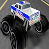3D polis canavar kamyon oyunu