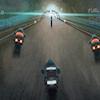 3D gelecekte bisiklet yarış oyunu