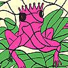 Yalnız pembe kurbağa boyama oyunu