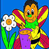 Yalnız bal arısı boyama oyunu