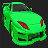 En iyi konsept yeşil araba boyama oyunu