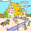 Büyük çiftlik ve at boyama oyunu
