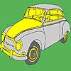 Büyük tarihsel Klasik araba boyama oyunu