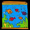Büyük akvaryum ve renkli Balıklar Boyama oyunu