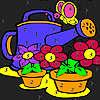 Büyük çiçek Bahçe boyama oyunu
