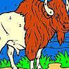 Çiftlik boyama üzerinde büyük bizon oyunu