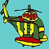 Büyük askeri helikopter boyama oyunu