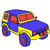 Büyük orman jeep boyama oyunu
