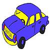 Mavi hızlı araba boyama oyunu