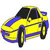 Mavi klasik araba boyama oyunu