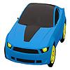 Mavi şehir araba boyama oyunu