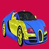 Parlak iki renk araba boyama oyunu