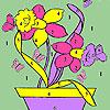 Kelebekler ve pot boyama çiçeklenir oyunu