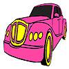 Klasik pembe araba boyama oyunu