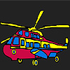 Renkli askeri helikopter boyama oyunu