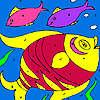 Renkli Balıklar Boyama oyunu