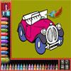 Boyama kitabı - arabalar oyunu