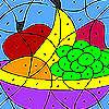 Renkli meyveler boyama oyunu