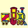 Renkli tren boyama oyunu