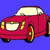 Koyu kırmızı araba boyama oyunu
