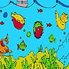 Derin deniz balıkları ve yosun boyama oyunu