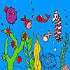 Derin okyanus balık ve deniz atı boyama oyunu