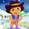 Dora kış Explorer Giydir oyunu