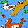 Nehir boyama ördek ailesi oyunu