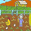 Çiftçi ve sebze boyama oyunu