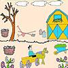 Bahçe boyama çiftçi oyunu