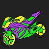 Büyüleyici ve hızlı motosiklet boyama oyunu