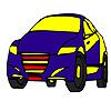 Hızlı mavi model araba boyama oyunu