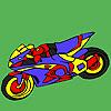 Büyüleyici motosiklet boyama oyunu