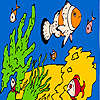 Fishes and sea sponges coloring oyunu