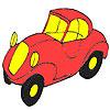 İlk kırmızı araba boyama oyunu