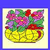 Çiçek vazo boyama oyunu