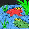 Kurbağa arkadaşlar Gölü boyama oyunu