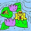 Kurbağa ve nilüfer boyama oyunu