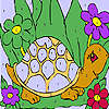 Komik kaplumbağa boyama oyunu
