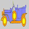 Altın eski araba boyama oyunu