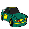 Yeşil hızlı araba boyama oyunu