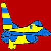Büyük mavi uçak boyama oyunu