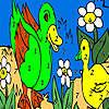 Yeşil Göl boyama ördek oyunu