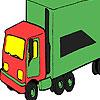 Yeşil büyük kamyon boyama oyunu