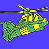 Ağır askeri helikopter boyama oyunu