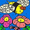 Aç arı Bahçe boyama oyunu