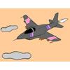 Jet avcı uçağı boyama oyunu