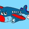 Uçak boyama çocuklar oyunu
