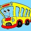 Otobüs boyama çocuklar oyunu