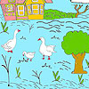Little farm and ducks coloring oyunu